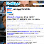 Jonny Goldstein tweets that Linda Sherman is a worthy competitor