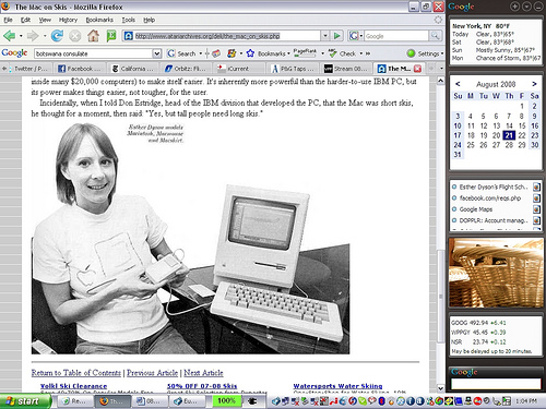 Historic Photo Esther and Macintosh 1984