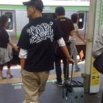 Cool Guy on Train Platform in Tokyo by Linda Sherman