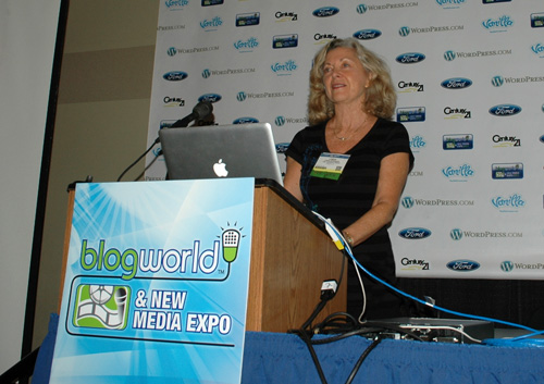 Linda Sherman Speaking at BlogWorld NYC May 24 2011