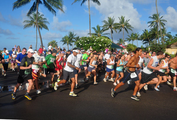 Koloa Plantation Days Fun Run 5K Race Start