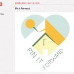 Screen shot of Pin It Forward on the Pinterest Website May 2010 captured by Linda Sherman