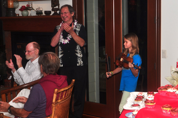 violin playing for birthday appreciated