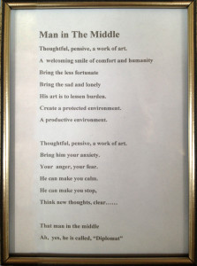 Man in the Middle poem for Michael Ceurvorst by Lee Morey