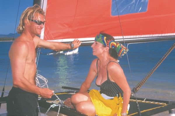 Francoise Morechand Sailing at Club Med Mauritius