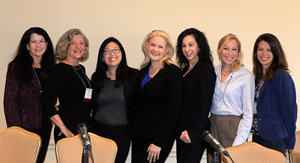 Michele Turner, Linda Sherman, Holly Liu, Kirsty Spraggon, Nina Simosko, Debra Fine, Kate Neligan branding panel Digital Hollywood photo by Ray Gordon