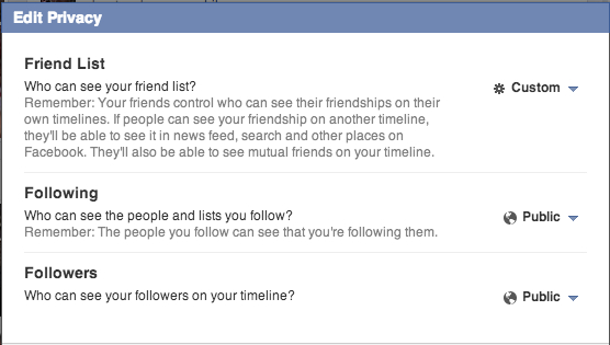 How to edit privacy of friends on Facebook