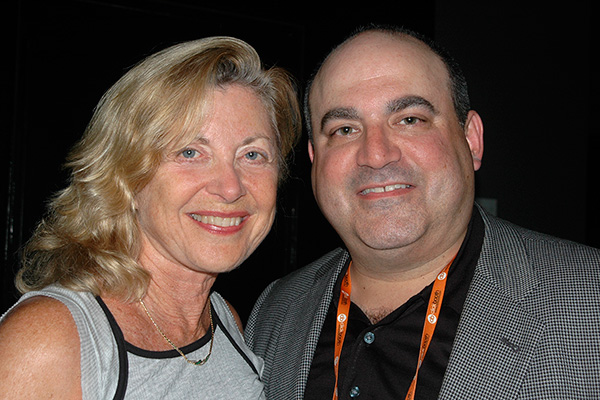 Linda Sherman with Shelly Palmer (Apr 2009) at AdTech.