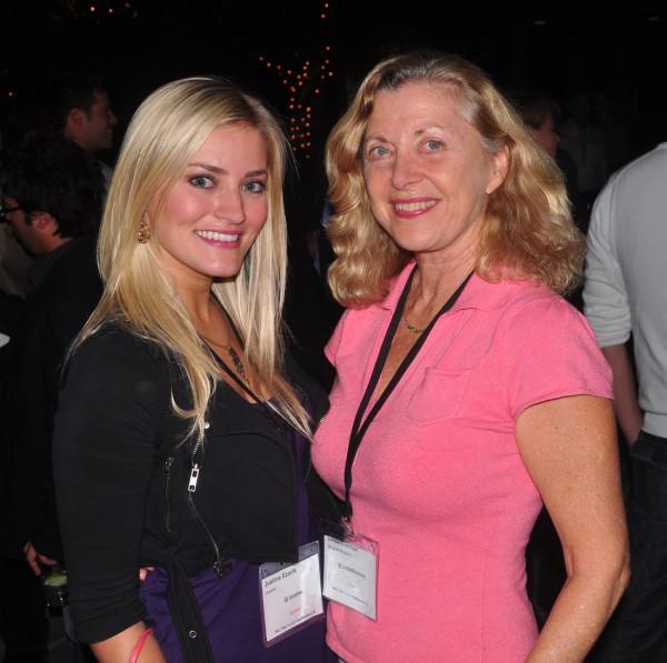 iJustine and Linda Sherman 140tc sept 2009