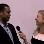 Linda Sherman interviewing Don Lemon
