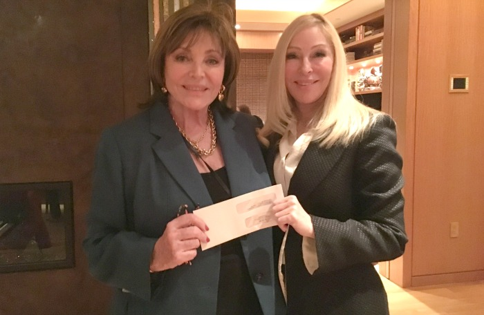 Share Inc rep Sarno with check for IHADLA CEO, Debra Fine