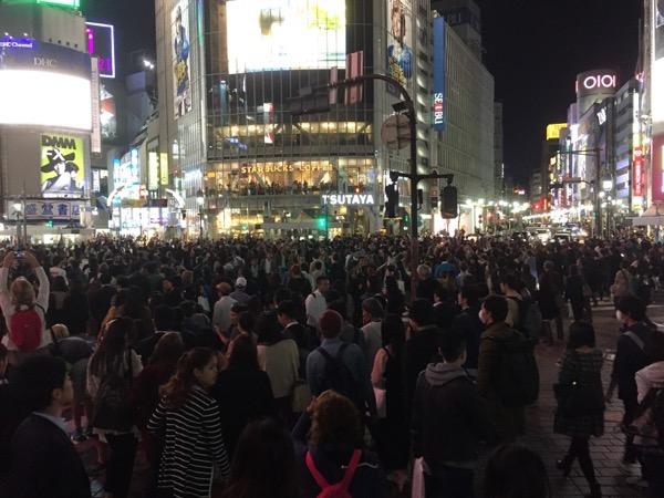 Shibuya Scramble on October 27 Tokyo Japan