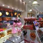 Shibuya shop girls in store prepared for Halloween Tokyo Japan