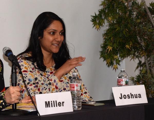 Ronjini Joshua speaking at Digital Hollywood photo by Ray Gordon