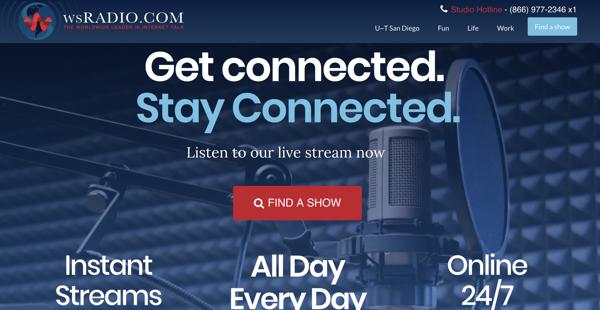 WS Radio on Desktop screenshot