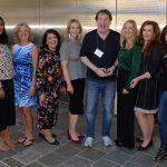 Digital Hollywood Branding Panel host Victor Harwood moderator Linda Sherman, Marsha Collier, Debra Fine, Erin Kapczynski, Elizabeth Barrutia, Ronjini Joshua